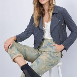 Anthropologie Blank NYC Elliot Sueded Moto Jacket